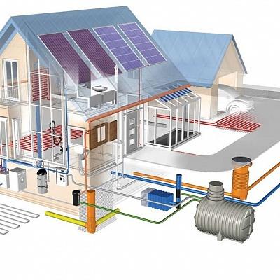 Схема отопительный системы загородного дома